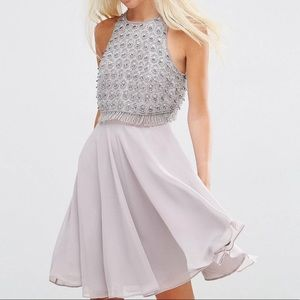 Embellished Crop Top Dress